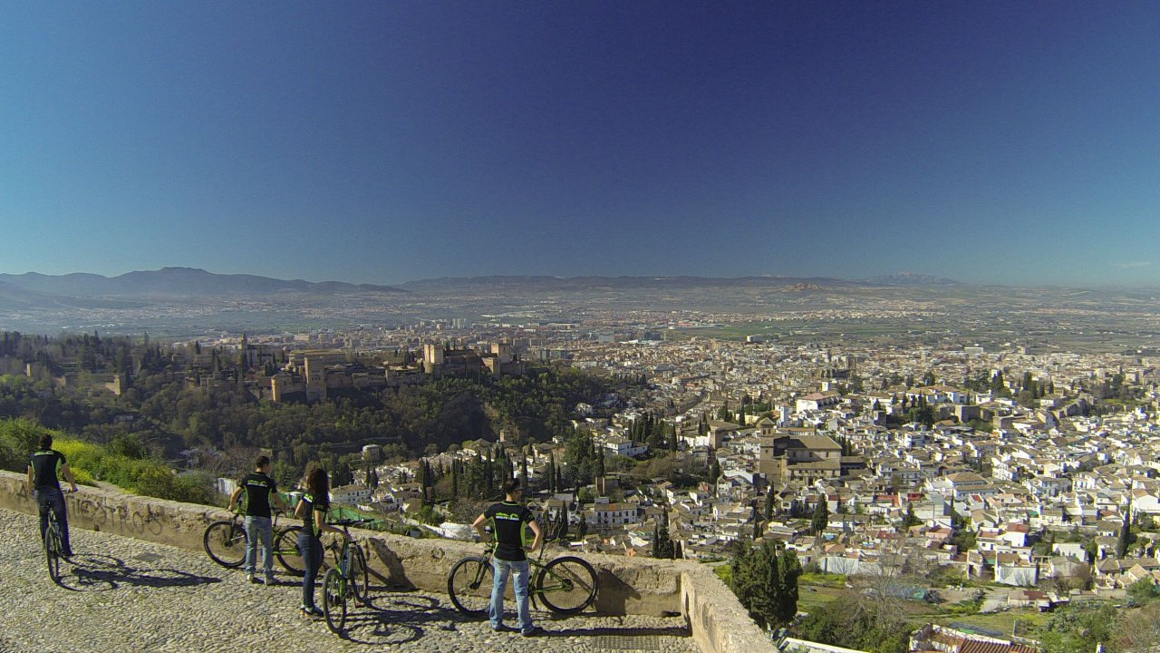 Granada eBike tours at San Miguel Alto viewpoint