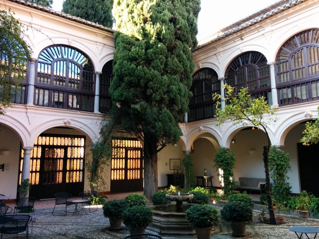 Monasterio de San Francisco nowadays hotel Parador de Granada in the Alhambra