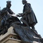 Statue of the Queen Isabel with Columbus