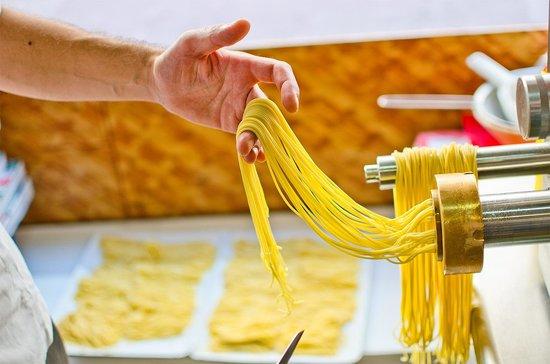 Making authentic Italian pasta at La Casa della Pasta
